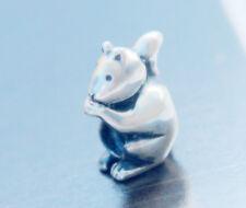 HANDMADE SILVER EUROPEAN Charm Bead for Bracelet Squirrel ANIMAL NATURE H11 PET