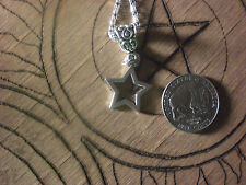 Witch Magic Twinkle Wish Star Little Small Necklace Silver