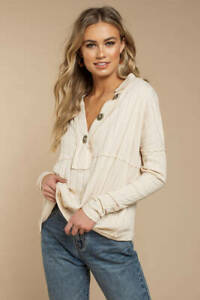 WE THE FREE PEOPLE IVORY IN THE MIX TOP (SIZE XS) RRP £68 COTTON JERSEY