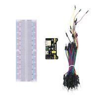 MB-102 Breadboard, Power Supply Module & 65 Piece Jumper Wires UK Seller