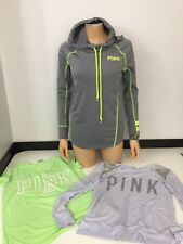 Victoria's Secret Bundle Of Three Hoodie Top Gym T Shirt Size Xs Grey Sport