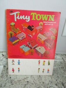 1969 Tiny Town Press Out Book, Vintage, Whitman Book, Western Publishing