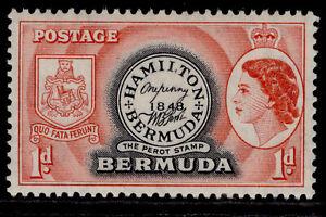 BERMUDA QEII SG136, 1d black & red, LH MINT.