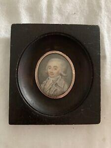 Rare And Superb Miniature Portrait Of Maximilien de Robespierre c.1790-94 NR!