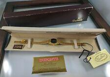 Dufonte Lucien Piccard Women's Quartz Gold Dress Watch w/ Diamond New Old Stock