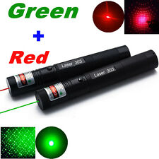 10 Miles Powerful Pointeur Laser Pen Light Vert + Rouge 1mW Visible Beam Green