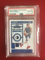 2019 Panini Contenders Luka Doncic #73 PSA 10 GEM MINT MAVERICKS JUST GRADED New