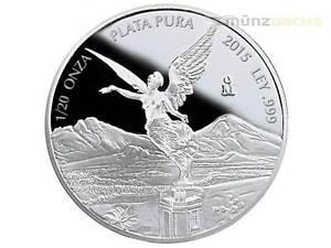 1/20 OZ OZ Silver Silver Libertad Goddess of Victory Mexico 2015 Pf Proof