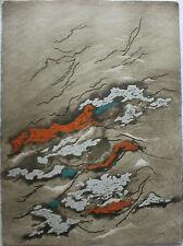 Yannick BALLIF - Très belle gravure signée numérotée Cimes etching 1978 *