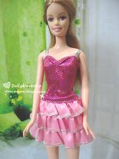 Doll dress ~ Mattel Barbie Lovely Pink Layer slipdress 1pcs #D-1738 NEW