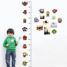 Marvel Height Chart Cartoon Wall Stickers Vinyl Decal Kids Room Nursery Decor