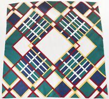 Silk Scarf VETTER Vintage Striped Plaid Pattern 1970s