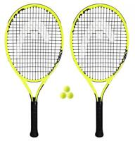 "2 x Head Extreme Junior Tennis Rackets + 3 Tennis Balls (19""-26"" Size Options)"
