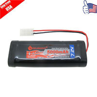 1pcs RC 5000mAh 7.2V Ni-Mh Rechargeable Battery Pack With Standard Tamiya Plug