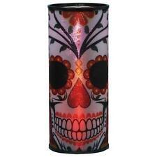 Dia de Los Muertos Day of the Dead Black Roses Skull Cylindrical Night Light