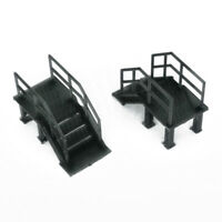 Outland Models Railroad Scenery Industrial Stairs 2 pcs 1:87 HO Scale