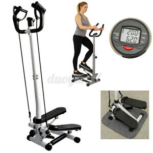 LCD Fitness Workout Exercise Stair Stepper Machine Cardio Equipment w/Handle