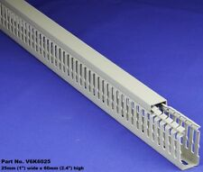 """1 Set - 1""""x2""""x2m Gray High Density Premium Wiring Duct & Cover UL/CE/CSA Listed"""