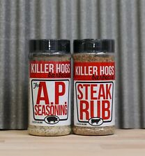 Killer Hogs THE AP RUB and STEAK RUB COMBO( 2 - 16 oz. shakers)