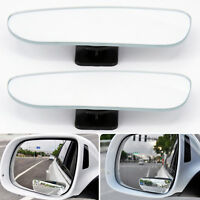 2Pcs Universal Car Convex Rear Side View Blind Spot Mirror Auto 360° Wide Angle