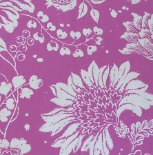 OSBORNE AND LITTLE Baldaquin printed cotton pink floral new remnant