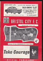1962/63 BRISTOL CITY V BOURNEMOUTH 11-09-1962 Division 3