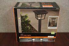 Portfolio 2 ct LED Path Lights - Black Finish - Model #00735 - Damaged Box