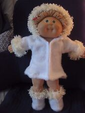 CPK doll clothes/16-18 inch/hooded fleece coat/fleece boots w/fur trim