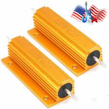 2x 4 Ohm 4 100w Watt Aluminum Housed Metal Case Wirewound Resistors