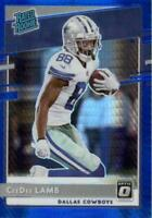 CeeDee Lamb 2020 Optic Rated Rookie Blue Hyper RC #156 Dallas Cowboys