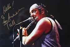 Original hand signed photo of Ian Anderson 10.9 x 8 in mounted by Mel Longhurst