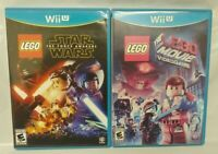 Lego Movie Game + Star Wars Force Awakens - Nintendo Wii U 2 Game Lot Tested