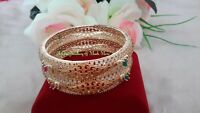IIndian Bollywood Designer Gold Plated 2Pcs AD CZ Stones Bangles