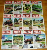 12x MiBa 1996 Miniaturbahnen komplett Hefte 1-12 Sammlung Modellbahn Eisenbahn