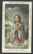 Estampa antigua de Santa Maria Goretti andachtsbild santino holy card santini