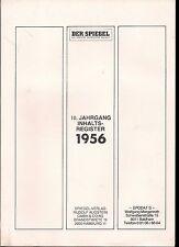 Der Spiegel Inhaltsverzeichnis / Register 1956 - 10 Jahrgang