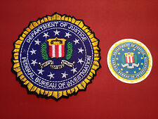 FBI ( FEDERAL BUREAU of INVESTIGATION) 85mm EMBROIDERED PATCH +  PHONE STICKER