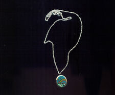 TAXCO, MEXICO, RAINBOW DESIGN STERLING SILVER PENDANT, MOP & TURQUOISE (J99)