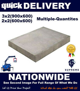 Concrete Flags / Slabs Grey (council) 3x2 2x2 Various Quantities Quick Delivery