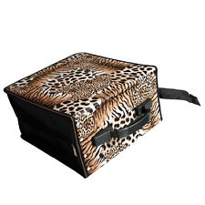 New 512 Capacity CD DVD Holder Organizer Wallet Case Bag Media Storage Leopard