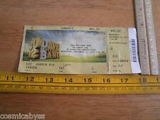 The Dave Matthews Band 2012 concert ticket Hollywood bowl
