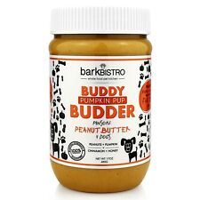 Bark Bistro Company, Pumpkin Pup BUDDY BUDDER, 100% Natural Dog Peanut Butter