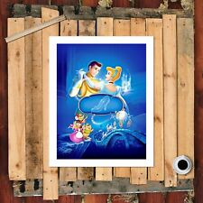 """8""""x10"""" Disney Cinderella Painting HD Print on Canvas Home decor Wall art Picture"""