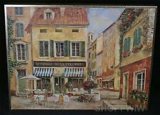 Framed Restaurant De La Colonne Print by Fabrice De Villenueve