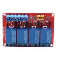 5V/12V/24V 4 Channel Optocoupler High & Low Trigger Relay Module Board