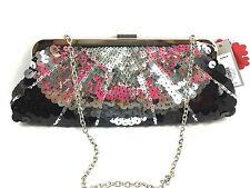 New Black Silver PURSE Sequin Pallette Clutch Handbag BEAUTIFUL Apt 9 NWT $70