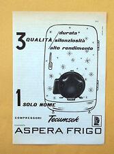 D072 - Advertising Pubblicità -1959- COMPRESSORI TEUMSEK , ASPERA FRIGO