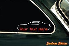 2x Custom YOUR TEXT car sticker - for Dodge Challenger SRT 8 (2008) mopar muscle
