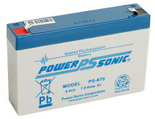 PS-670 Power-Sonic 6v 7Ah PS670 Rechargeable Sealed Lead Acid 6 V Battery