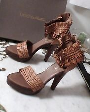 UGG CYNTHIA Flower Butterfly Weave Leather Platform Heel Dress Shoes Italy 7 NEW